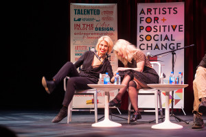 Nadya and Masha were mostly lighthearted in the Q & A. Photo by René Bjorheim.