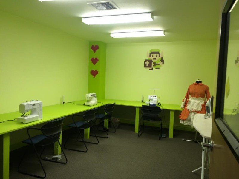 "Sewing room at ""Just Cos."" Photo courtesy of ""Just Cos."""