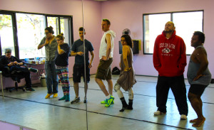 Jewel Box Cabaret practices for their upcoming show. Photo by Charlotte Renken