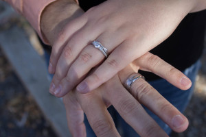 Jeremy and Elecia's wedding rings. Photo by Kyleigh Carter