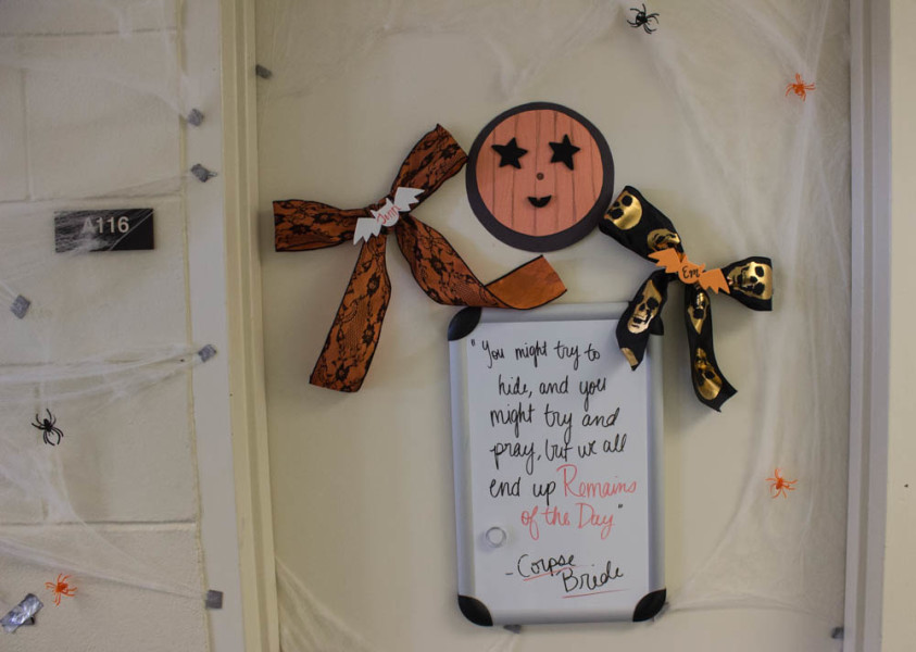 Students in St. Michael's dormitory are ready for Halloween! Photo by Kyleigh Carter.