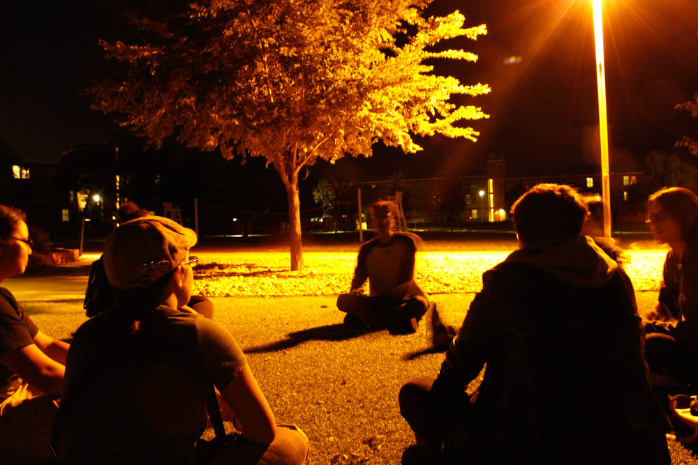 The ICC Full Moon Gathering draws students to Quad. Photo by Lauren Eubanks