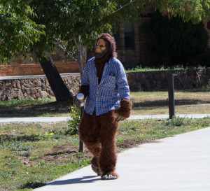 Sasquatch on the Quad. Photo by Christy Marshall