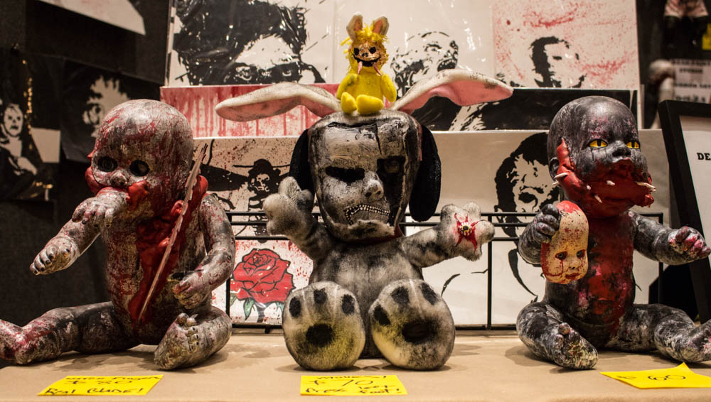 Pictured above are a few pieces of dead art by David Culbertson. Photo by Christy Marshall