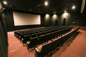 The Screen empty hours before a movie starts. Photo by Jason Stilgebouer.