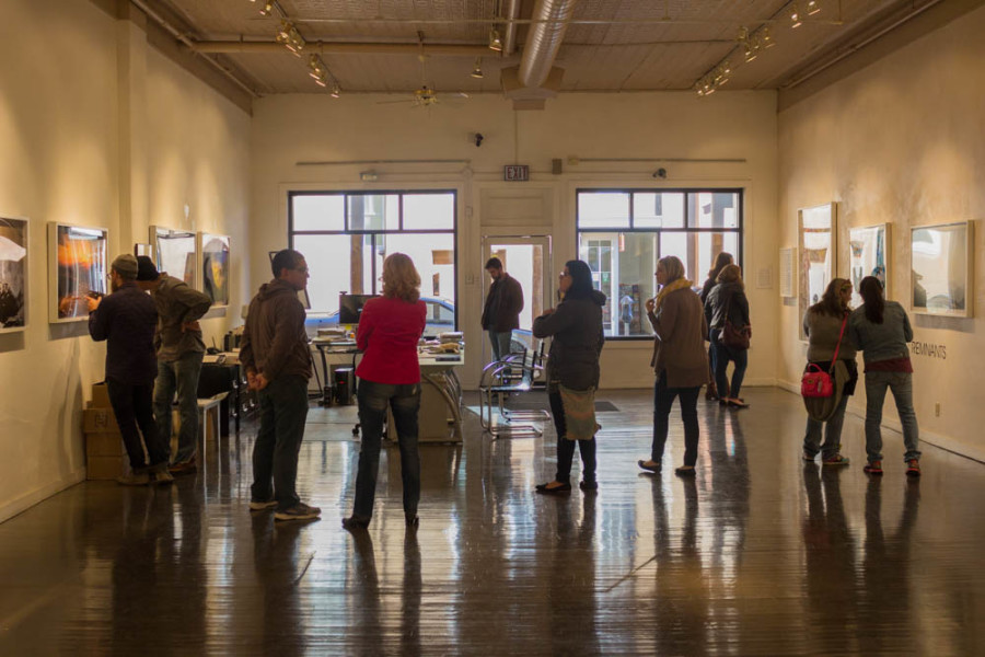 The Gallery and Museum Practices class in Monroe Gallery. Photo by Kyleigh Carter.