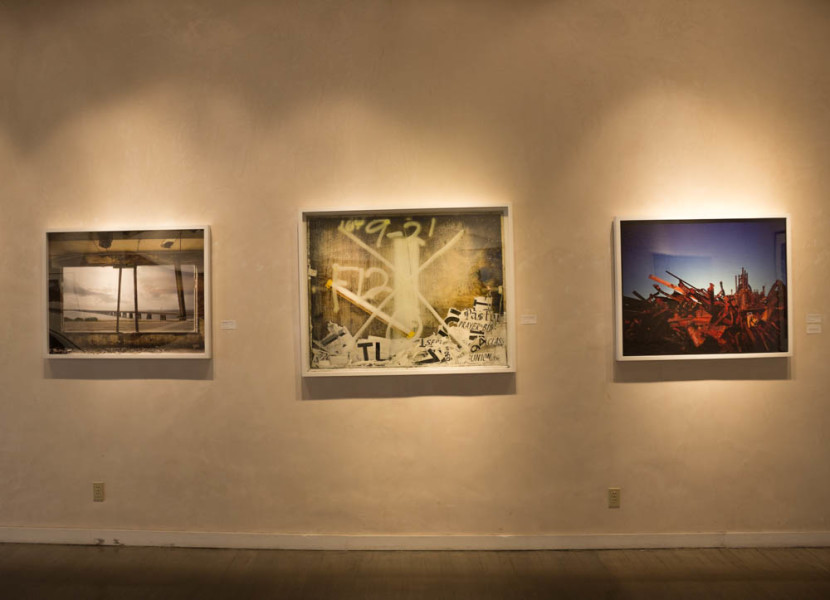 Three pieces from the show Remnants by Stephen Wilkes. Photo by Kyleigh Carter.
