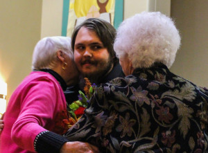 John Church with his Grandmothers, Betty Church and Marlene Kostal. Photo by Christy Marshall