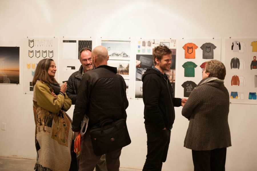 The BFA Thesis Exhibition for graphic design students showcased the artwork of four students. Photo by Forrest Soper.
