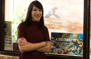 Sierra Parson, faculty advisor for Colors. Photo by Jason Stilgebouer.