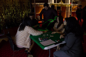 Students enjoy a game of Blackjack. Photo by Kyleigh Carter