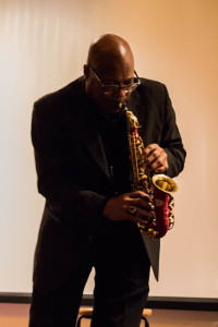 Horace Young, chair of Contemporary Music Program, plays the soprano saxophone at the jazz concert on Feb. 12. Photo by Christy Marshall
