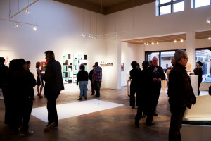 Crowd at Wade Wilson gallery opening. Photo by Whitney Wernick