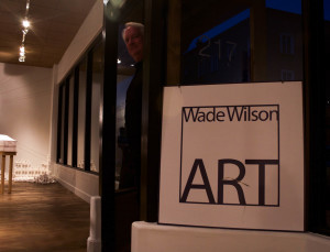 Wade Wilson peeking into his gallery. Photo by Whitney Wernick