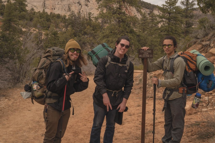Over spring break, Richard Sweeting went on a four day backpacking trip in Zion National Park. Photo by Kelvin James Duval