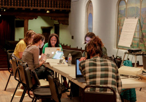 Participants in the Wikipedia Edit-A-Thon working hard on their articles. Photo by Cris Galvez.