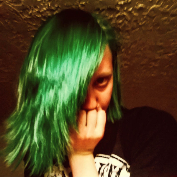 I dyed my hair green for St. Paddy's day. Photo by Christy Marshall