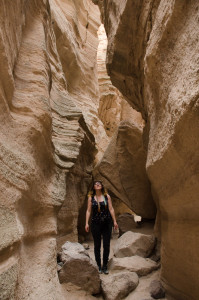 Raya Jade Lieberman takes a journey through Tent Rocks National Monument. Photo by Rebeca Gonzalez