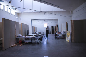 The artists in residence get their own private studio space to work. Photo by Richard Sweeting