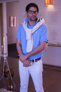 Franco Andres, SFAI Post-Graduate Fellow, gives us a talk and tour on what SFAI is all about. Photo By Richard Sweeting