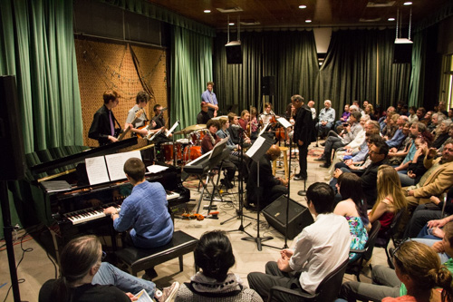 New Mexico School for the Arts performs its spring Jazz Ensemble. Photo by Jason Stilgebouer