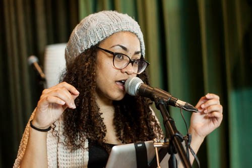 Contemporary Music Major Janel Blanco Jean-Bart. Photo by Jason Stilgebouer