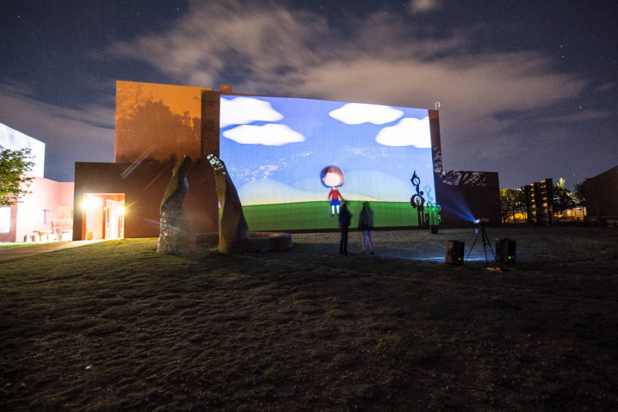 One of the instillations at Outdoor Vision Fest. Photo by Jason Stilgebouer.