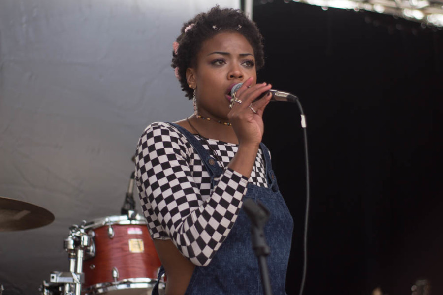 Ardaya's lead vocals Rachel Dupard performs at Quadstock. Photo by Jason Stilgebouer.