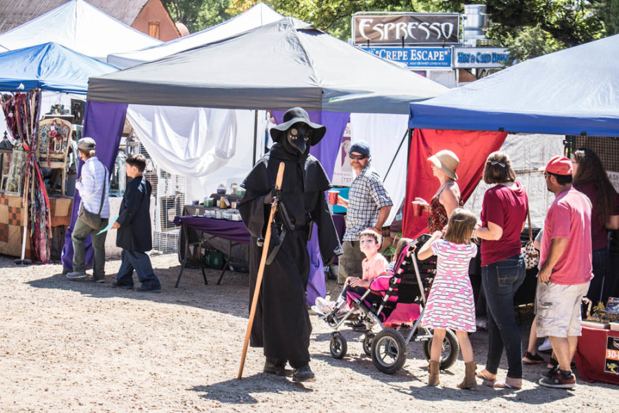 "James Jurney is the ""Plague Doctor"" at the Santa Fe Renaissance Fair. Photo by Chris Dorantes"