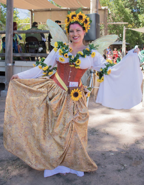 Paula Gonzalez dressed as a Sunflower at this year's Santa Fe Renaissance Fair. Photo by Chris Dorantes