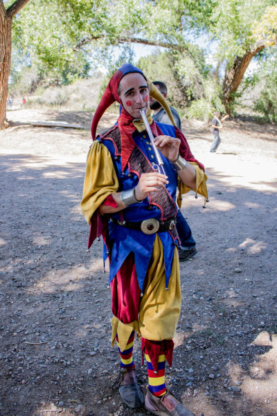 Elijah Tynker entertains the crowds as a Court Jester at this year's Santa Fe Renaissance Fair. Photo by Chris Dorantes
