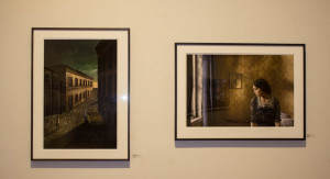 "Richard Tuschman's photos ""Mystery and Melancholy of a Street"" (left), and ""Pale Light"" (right), featured in photo-eye's gallery. Photo by Cris Galvez."