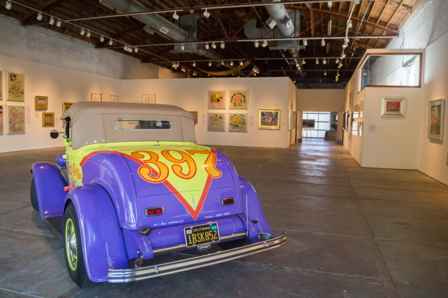 Featured artist at CCA, Robert Williams, not only paints on canvas but also designs hotrods. Photo by Jennifer Rapinchuk