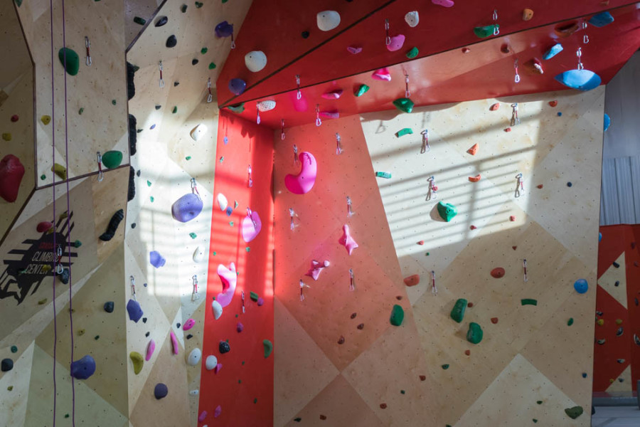Santa Fe's newest Climbing Center, opening soon. Photo by Kaitlyn Sims.