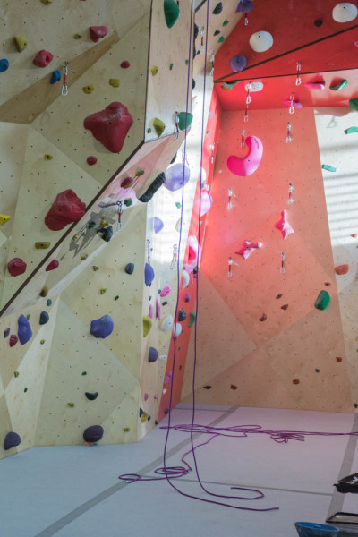 Some routes to be tried when the new Santa Fe Climbing Center re-opens. Photo by Kaitlyn Sims.