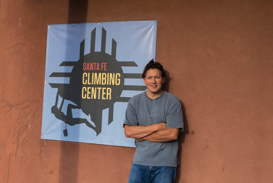 Andre Wiltenburg is the owner of Santa Fe's improved Climbing Center. Photo by Kaitlyn Sims.