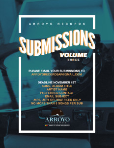 The submission poster for Arroyo Records third collective CD.