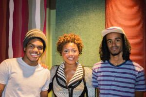 Thulani Mason, Rachel Dupard, and Shar Clay are publicists for SFUAD's music label Arroyo Records. Photo credit: Chris Dorantes