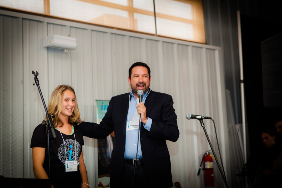 Hayley Ammerman attended several political meetings with Mayor Javier Gonzales. Photo provided by Inspire Santa Fe