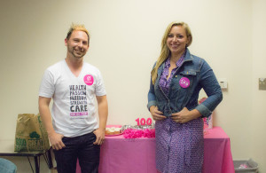Marshall Martinez and Connor Anderson organize a get together to talk about the next 100 years of Planned Parenthood. Photo by Amaya Hoke