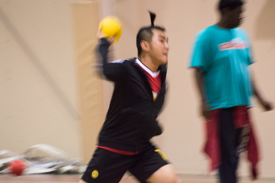 In the context of art school, dodgeball is no longer a feared middle school activity. Photo by Jennifer Rapinchuk