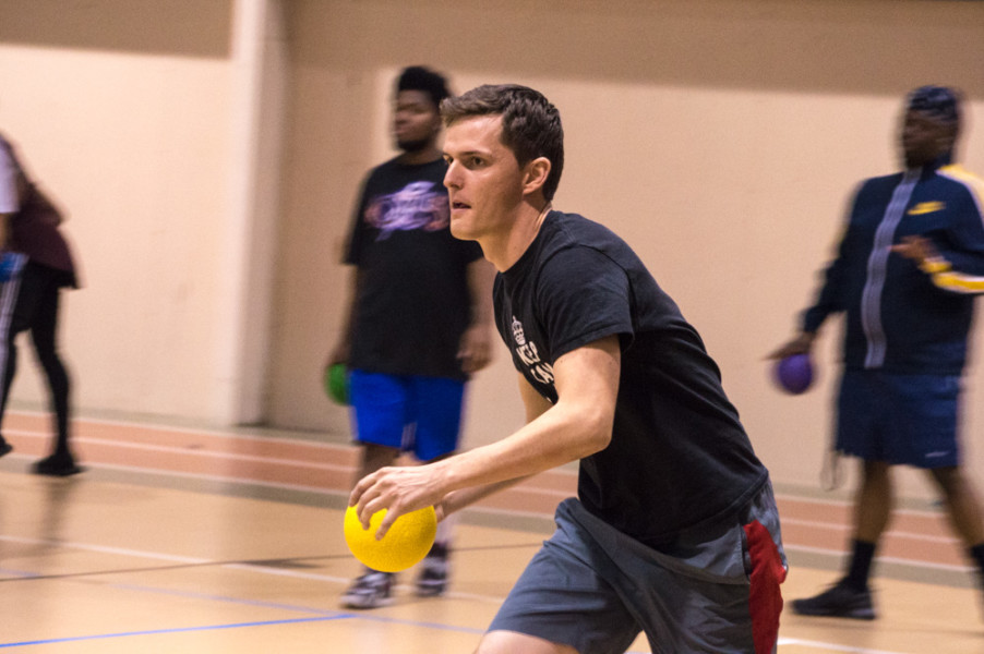 Dodgeball is face-paced, perfect to expel all extra energy and tension after a long day of classes. Photo by Jennifer Rapinchuk