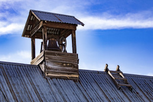 An old roof top in the historic district of Las Trampas, NM. Photo by Chris Dorantes