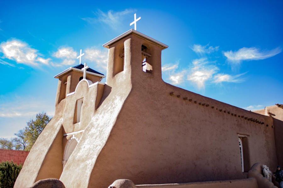 San Francisco de Assisi Mission Church is located on the historic plaza in Ranchos de Taos, near Taos, NM. Photo by Chris Dorantes