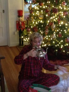 Marissa Doherty receives a kettle from Morocco one Christmas morning. Photo provided by Doherty.