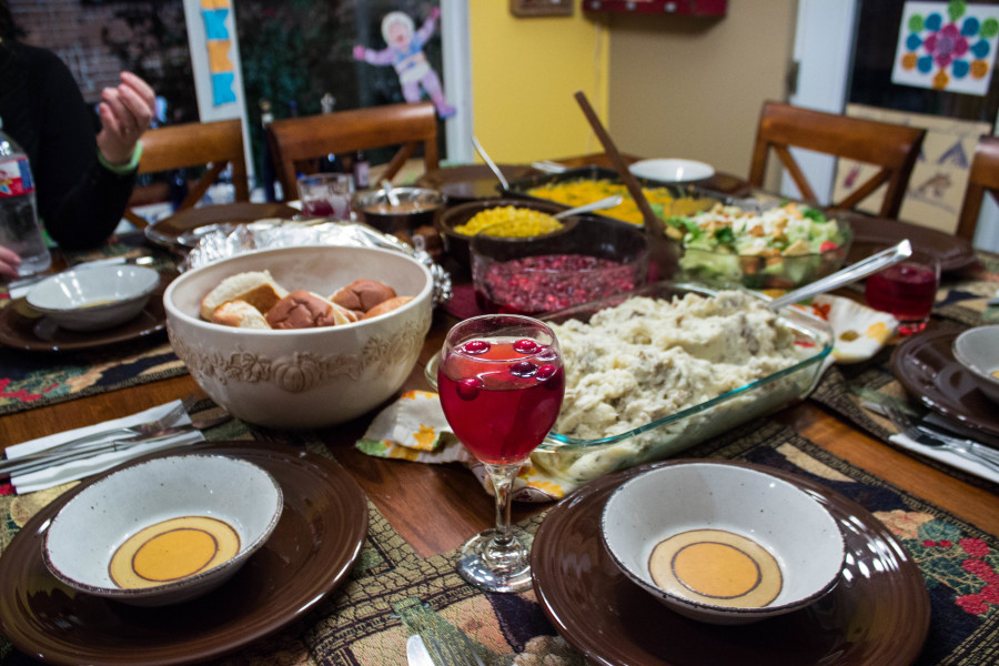 Holiday season means food, food and more food. Photo by Amaya Hoke.