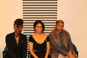 The creative team: Chassity Coleman, Caroline Haughton and Lonnell Lomax worked tirelessly to present a powerful show. Photo by Chantelle Mitchell.