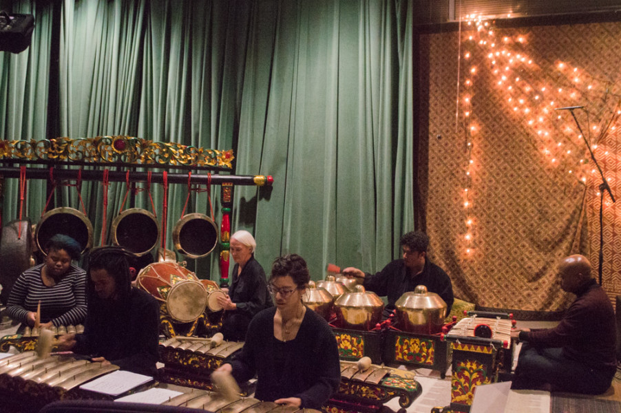 The Gamelan ensemble is made up of a variety of percussion instruments that altogether create a very cinematic and ambient sound. Photo by Jennifer Rapinchuk.