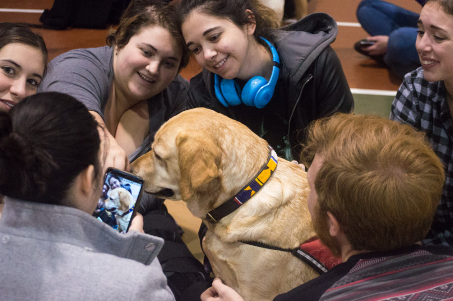 Students cannot pass up the opportunity to share their happiness with the Internet. Photo by Jennifer Rapinchuk.