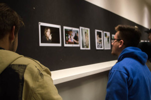 Students from a variety of majors came to support and critique the work of their fellow students including this project from Senior Carolina Long. Photo by Jennifer Rapinchuk.